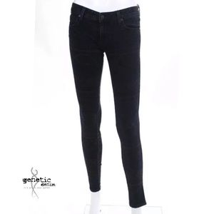 GENETIC DENIM Purple Printed Skinny Leg Jean